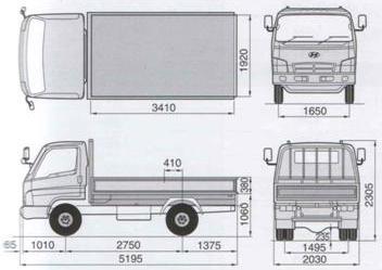 технические характеристики hyundai hd 72